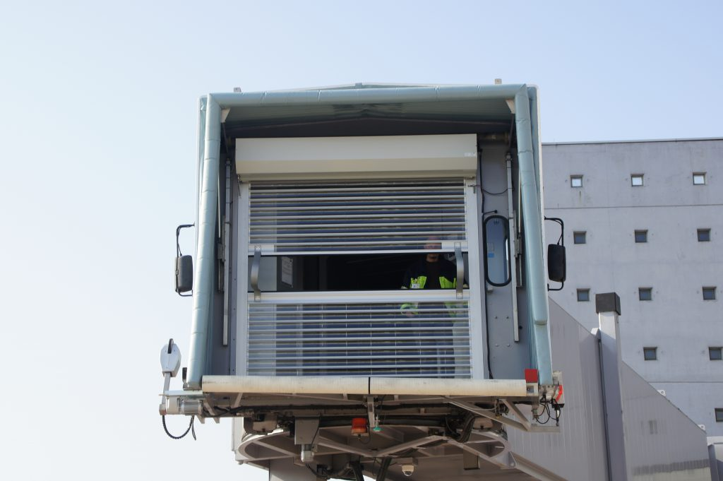 Roller airport safety shutters